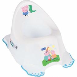 Hrajúci detský nočník protišmykový Prasiatko Peppa white-blue