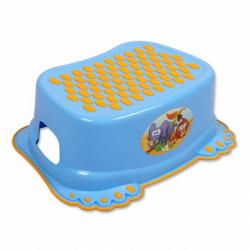 Detské protišmykové stúpadlo do kúpeľne modre labky