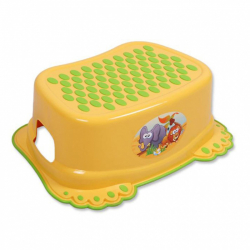 Detské protišmykové stúpadlo do kúpeľne žlte labky