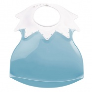 THERMOBABY Plastový bryndák s límcem, modrá