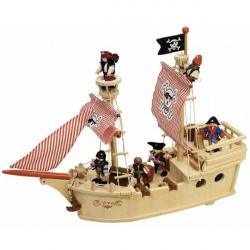 Tidlo drevená pirátska loď