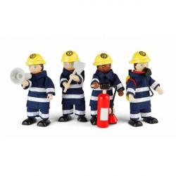 Tidlo drevené postavičky hasičov