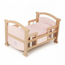 Drewniane łóżeczko dla lalek 2w1