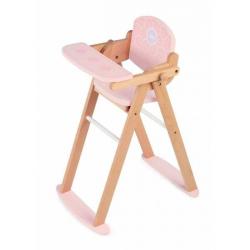 Tidlo drevená stolička na kŕmenie bábik