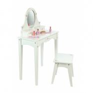 Tidlo drevený kozmetický stolček biely