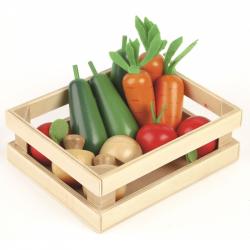 Tkľud Drevená debnička so zeleninou