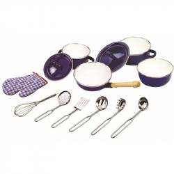 Zestaw naczyń i akcesoriów kuchennych - granatowy, Tidlo
