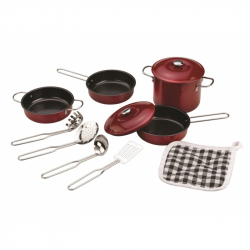 Zestaw naczyń i akcesoriów kuchennych - czerwony, Tidlo