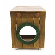 Tidlo dřevěná zahradní pračka
