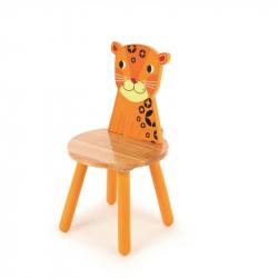 Tidlo dřevěná židle Animal leopard