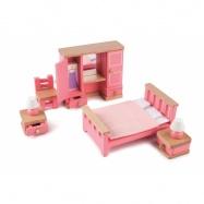 Tidlo dřevěný nábytek - Ložnice růžová