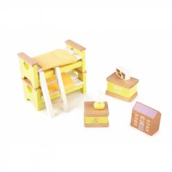 Pokój dziecięcy - mebelki do domku dla lalek, Tidlo