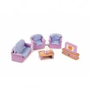 Tidlo dřevěný nábytek - Obývací pokoj fialový
