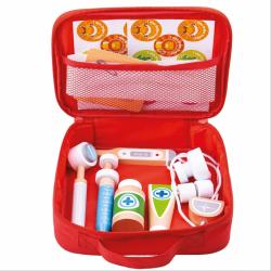 Zestaw lekarza, dziecięca apteczka lekarska z drewnianymi akcesoriami Tidlo Doctor Set