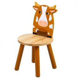 Tidlo Drevená stolička kravička