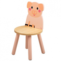 Tidlo Drevená stolička prasiatko