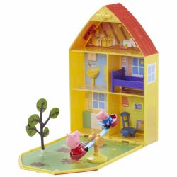 Świnka Peppa - Domek Walizeczka z ogrodem i figurką