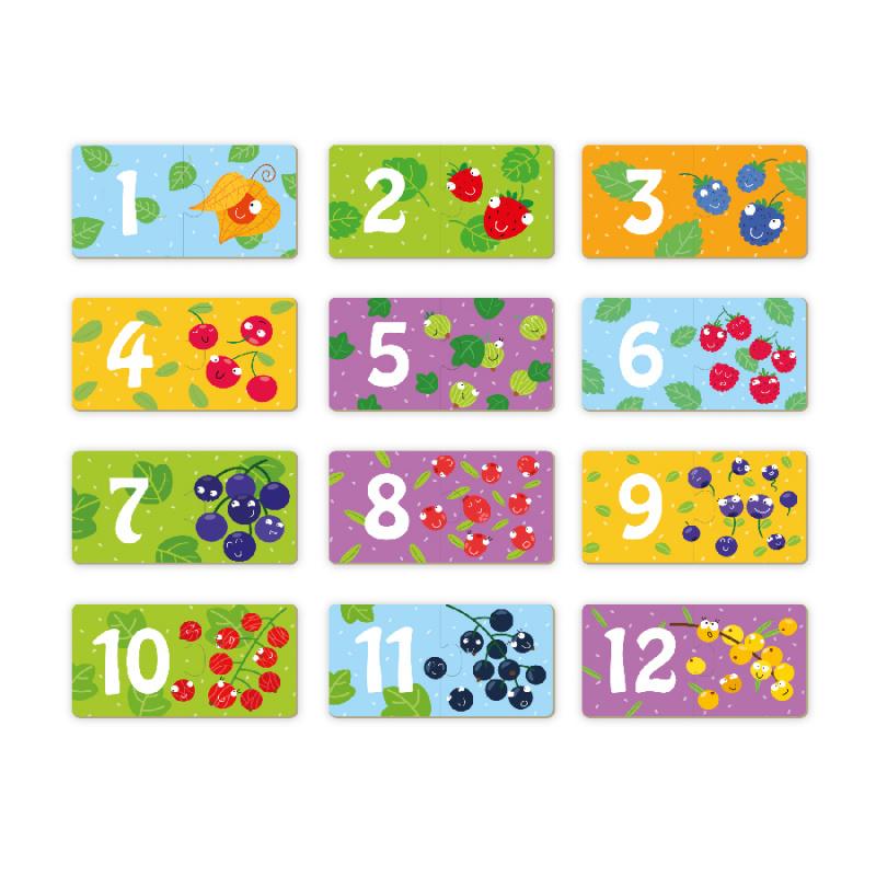 Puzzle Duo Numbers Merry Fruit-12x2 sztuk