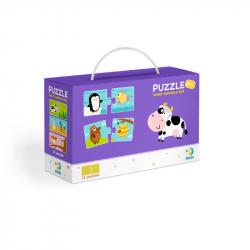 Puzzle Duo Jakie zwierzęta jedzą -12x2 szt