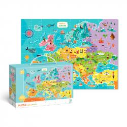 Puzzle Mapa Europy -100 sztuk