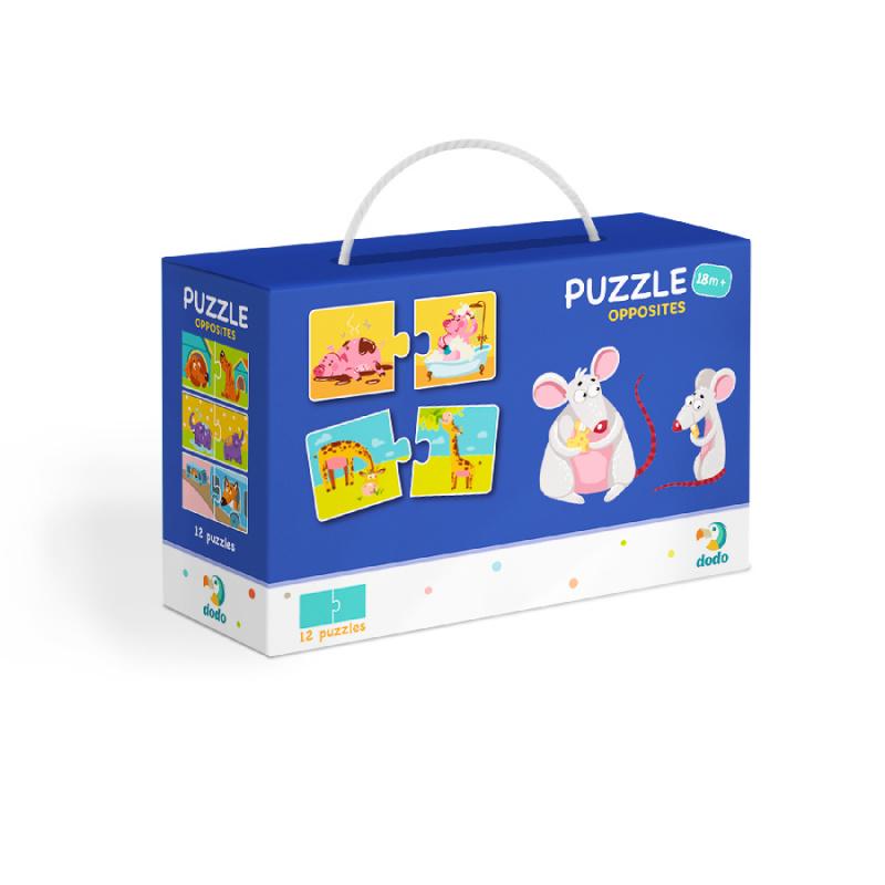 Puzzle Duo Protiklady -12x2 dílků
