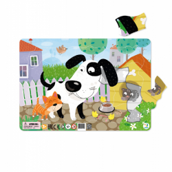Ramka Puzzle Puppy 21 sztuk