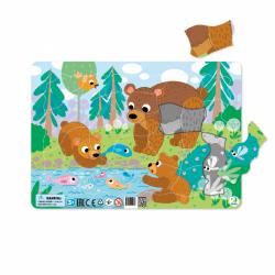 Ramka puzzli Rodzina Bear składająca się z 21 elementów