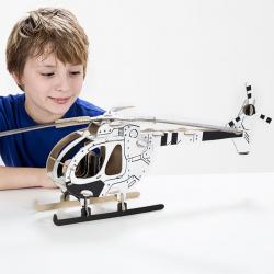 Kartonová 3D skládačka TO DO Vrtulník
