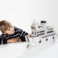 Kartonová 3D skládačka TO DO Parník