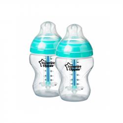 Dojčenská fľaša C2N ANTI-COLIC 260ml 2ks 0m +