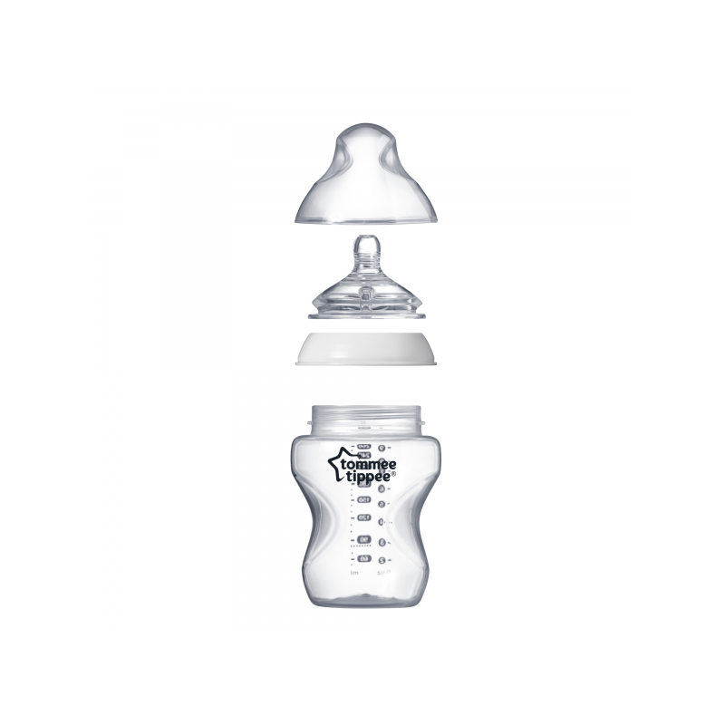 TOMMEE TIPPEE Closer to Nature Butelka do karmienia 260ml 0m+ 3 szt.