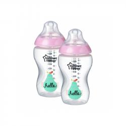 TOMME TIPPEE Butelka niemowlęca 2 szt., 340 ml (3m+) C2N – różowa