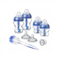 Sada dojčenských fľaštičiek C2N ANTI-COLIC s kefou Blue