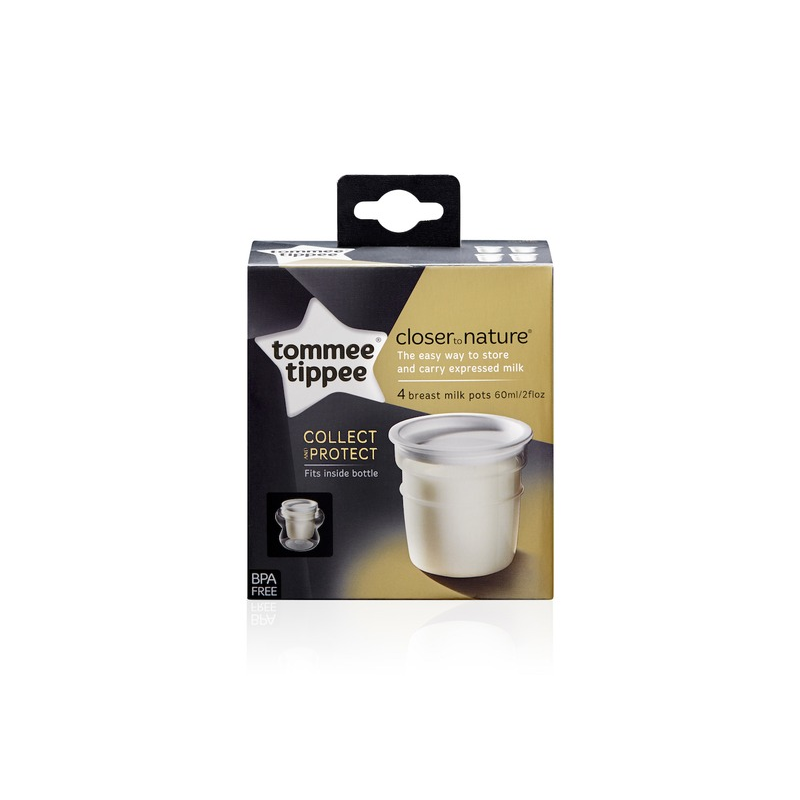 Nádobky na skladovanie mat. mlieka C2N, 4ks 0 + m