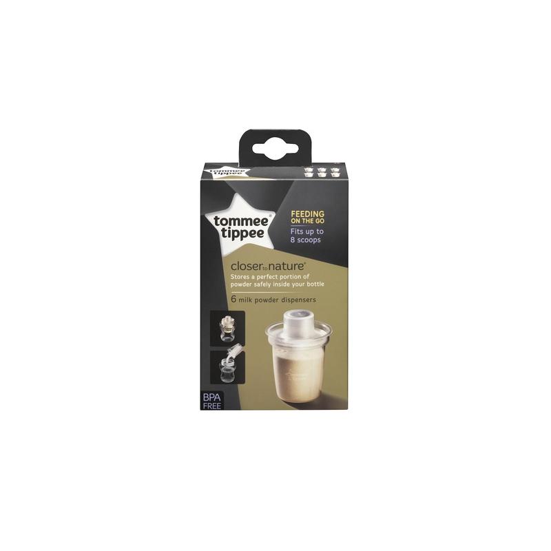 TOMMEE TIPPEE Pojemnik na mleko w proszku C2N, 6 szt.