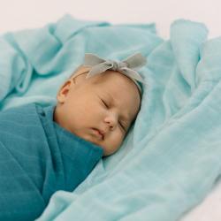 Tommy Lise Pieluszka bawełniana Dreamy Blue 120 x 120 cm