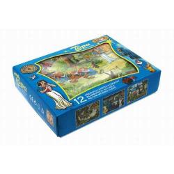 Królewna Śnieżka - Kostki drewniane, 12 szt w pudełku