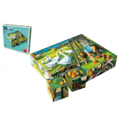 Kocky kubus Na statku drevo 20ks v krabičke 20x16x4cm