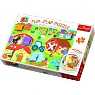Puzzle 36 dílků Flip-flap Na farmě