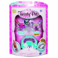 Spin Master Twisty Petz - Bransoletki Glitzy Panda i Fluffles Bunny + niespodzianka 3-pak seria
