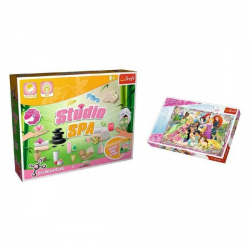 PACK Science for you Studio SPA 21 pokusov + Puzzle Disney Princezné 260 dielikov v krabici 40x26x13cm