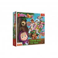 Máša a medvěd-Přeji hezký den společenská hra v krabici 24x24x5