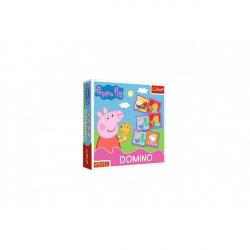Domino papírové Peppa Pig/Prasátko Peppa 28 kartiček společenská hra v krabici 20x20x5cm