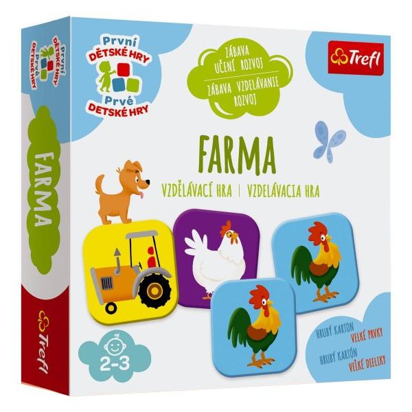 Farma vzdelávacie spoločenská hra pre najmenších v krabici 20x20x5cm 24m +