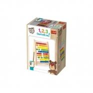 Počítadlo dřevěné Wooden Toys v krabičce 18m+