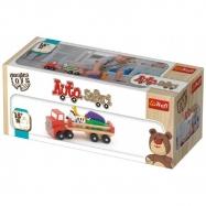 Auto nákladní safari dřevěné 26,5 cm Wooden Toys