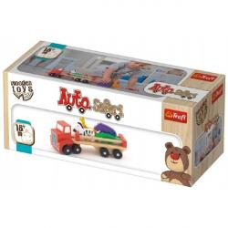 Auto nákladné safari drevené 26,5 cm Wooden Toys