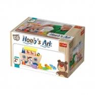 Noemova archa loďka se zvířátky 18ks dřevěná Wooden Toys v krabici 26,5x16x15cm 2+