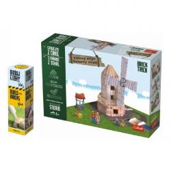 Pack Stavajte z tehál Veterný mlyn stavebnica Brick Trick + lepidlo grátis v krabici 35x25x7cm