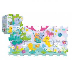 Penové puzzle 8ks Mačiatka 32x32cm v sáčku 24m +